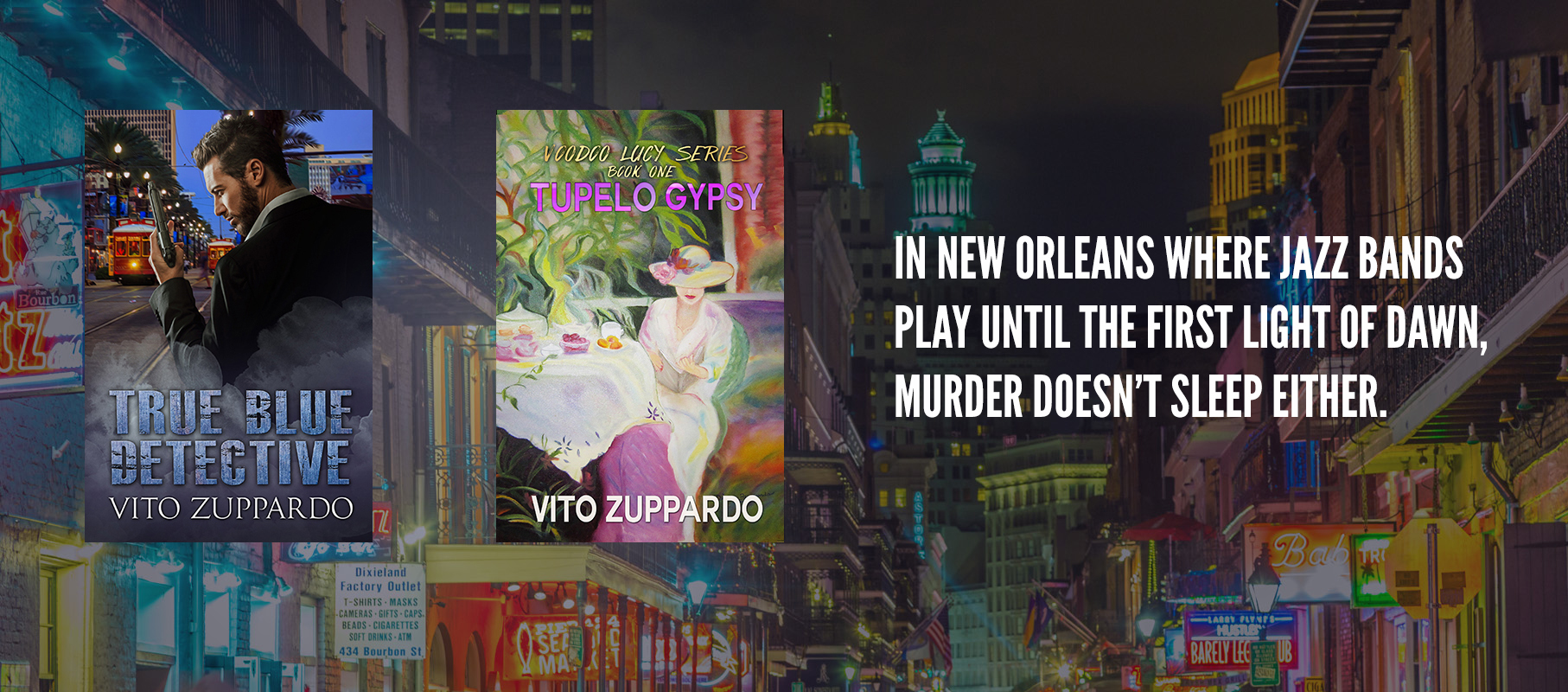New Orleans suspense mystery and crime fiction